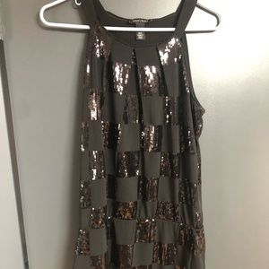 Black party dress - sequined squares